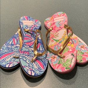 Two Pairs is Lilly Pulitzer for Target Flipflops